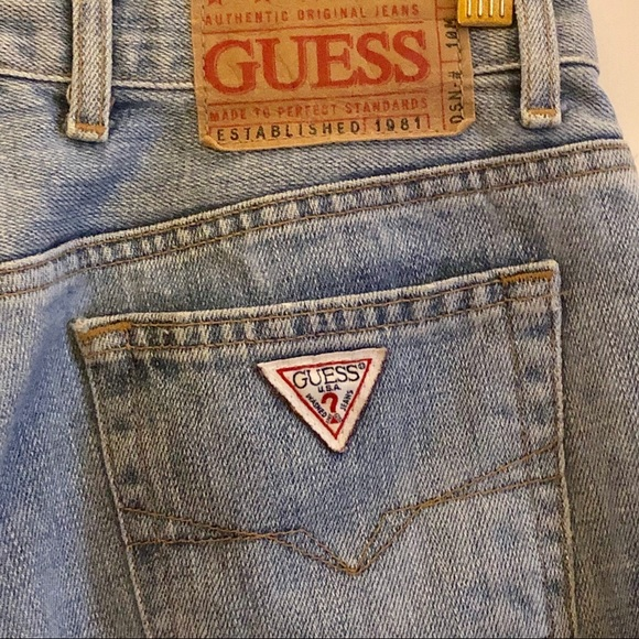 Vintage Authentic Original Guess Faded Jeans